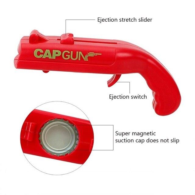 NEW Firing Cap Gun Creative Flying Cap Launcher Bottle Beer Opener  1