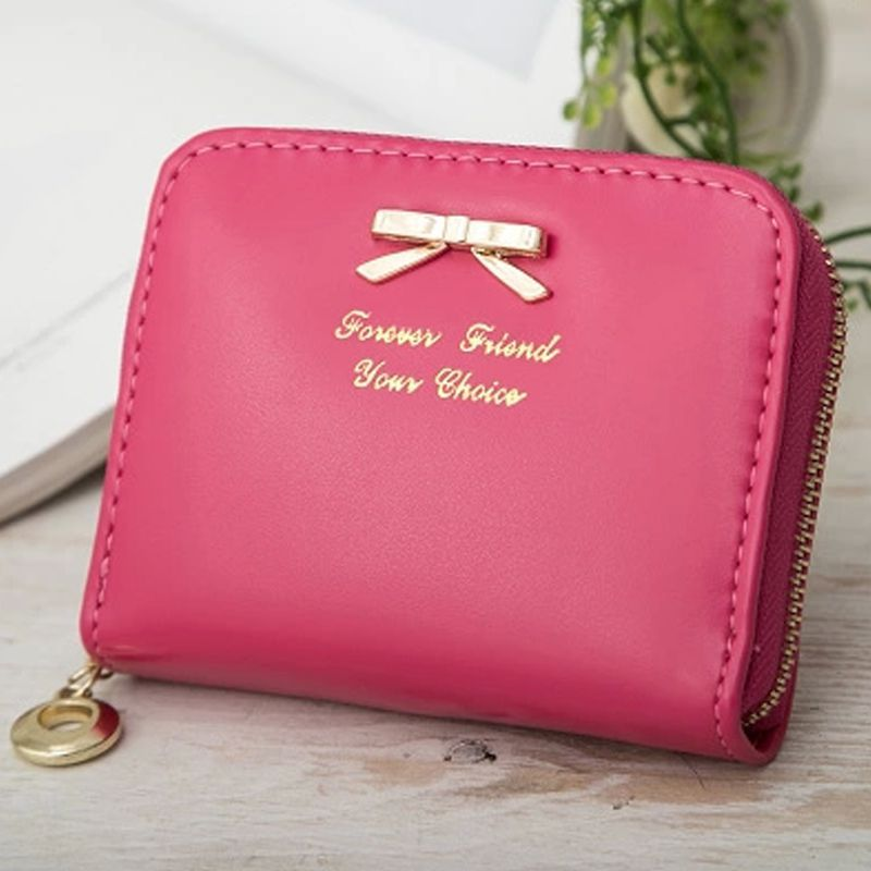 7aa23013997f Women s Purse 2018 Coin Money Wallets Little Kids Cute Mini Bag For Girls  Woman Of Small Size Change Purse PU Leather Zipper-in Coin Purses from  Luggage ...
