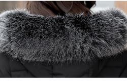 Women's Winter Jacket Long Cotton Padded Parkas Ladies Fur Collar Plus Size Cotton Jacket Thick Female Winter Clothes  CH419 3