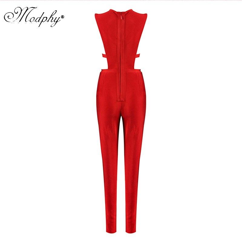 Mode Nouvelle De Sexy Évider Luxe Combinaisons Gros D033 Rouge 2018 Femmes Sans Bandage Manches Dropshipping Shinny Uq5wCCS