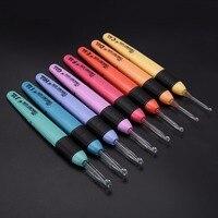 8 stücke 8 Größen Häkelnadeln Mayitr Pullover Stricknadeln Kunststoff Nähen Hand Werkzeug Weave Craft Mit LED-Licht Stil