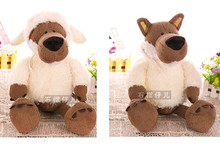 Super cute 1pc 35cm home decoration plush cartoon wolf hold doll stuffed toy creative children baby gift