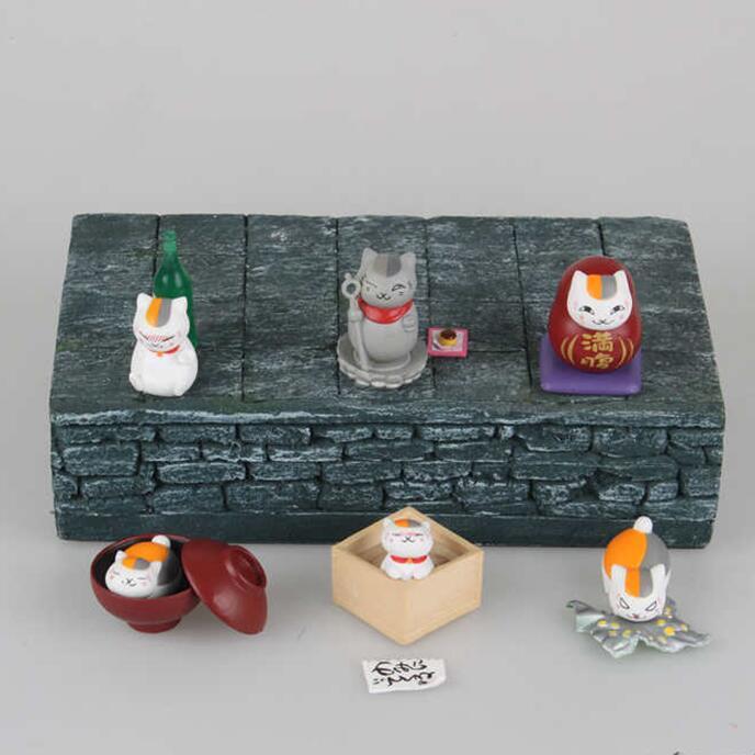 Anime Cartoon Natsume Yuujinchou Natsume Nyanko Sensei Cat PVC Action Figure Collectible Model Toy 6pcs/set KT3825Anime Cartoon Natsume Yuujinchou Natsume Nyanko Sensei Cat PVC Action Figure Collectible Model Toy 6pcs/set KT3825