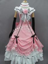 Manga anime kuroshitsuji negro mayordomo ciel phantomhive cosplay lolita punky del partido dress guantes sombrero juego