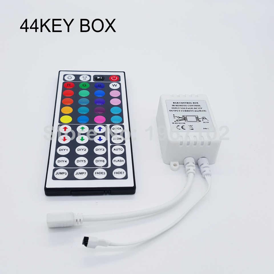 RGB LEVOU Controlador DC12-24V Mini 3/24/44/11 Controle Remoto IR Chave Para 2835 3528 5050 RGB CONDUZIU Luzes de Tira