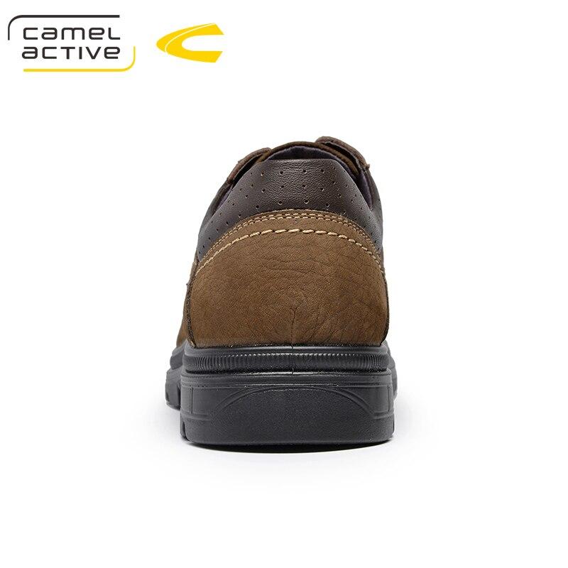 44 Confortable À Plein Printemps Hommes En Véritable Casual Grande automne  Air Sneakers Camel Active Taille Chaussures Nouvelle kaki Mode Marron Cuir  Lacets ... 9bf50584056b