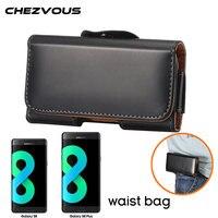 CHEZVOUS Fashion Men Belt Clip Case Pouch For Samsung S8 S8 Plus Cover PU Leather Simple