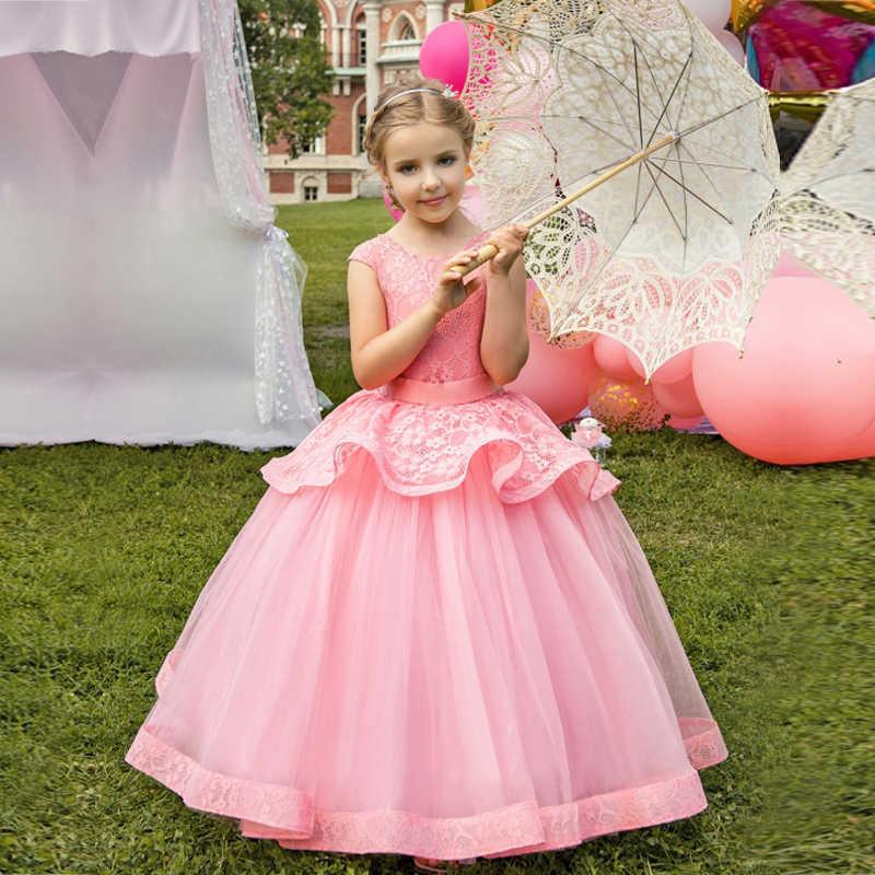 71e8cba1f9 Kids Dresses For Girls Birthday Party Teenage Girl Clothes Princess Formal Dress  Flower Girl Wedding Prom