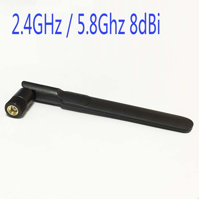 2.4GHz / 5.8Ghz 8dBi Omni WIFI Antenna Dual Band With RP SMA Male Connector For Wireless Router Oars Flat Antenna 2 4ghz 5 8ghz dual band antenna 6dbi high gain omni rp sma connector wifi antenna signal strengthen for router modem usb
