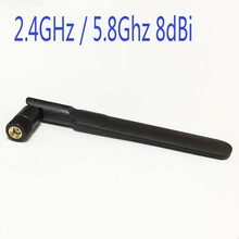 2.4GHz / 5.8Ghz 8dBi Omni WIFI Antenna Dual Band With RP SMA Male Connector For Wireless Router Oars Flat Antenna