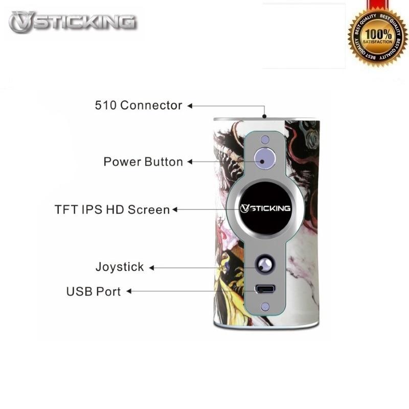 D'origine VSTICKING VK530 Boîte Mod 200 W Alimenté Par Double 18650 Batteries Fit 510 Fil Vaporisateur Réservoir Vaporisateur Anti- sec Combustion Tech - 2