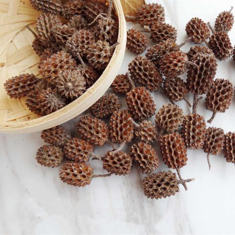 50 Pcs Bunga Kering Alami Pine Cone Biji Bunga Buatan untuk Rumah Natal DIY Garland Wreath Dekorasi