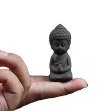 Mini Garden Accessories Buddha Statue Ceramic Figurine Hindu