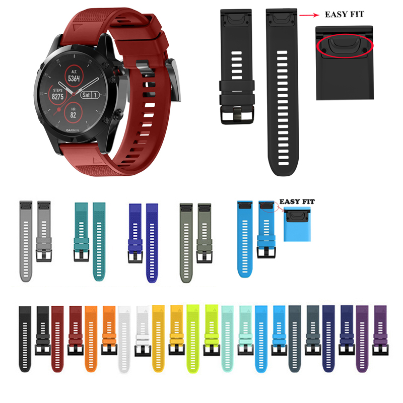 Silicone-Strap Watch Fenix3 Garmin Instinct Quick-Release Plus 22MM for 5X 26MM 3HR