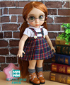 2016 NEW Doll Accessories 40cm Sharon doll strap dress and white shirt for girls gift