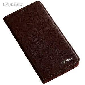 Image 4 - Wangcangli do telefonu Samsung c9pro przypadku telefonu wosk z oliwek skóra portfel odwróć stojak uchwyt gniazda kart etui ze skóry, aby wysłać telefon folia ze szkła