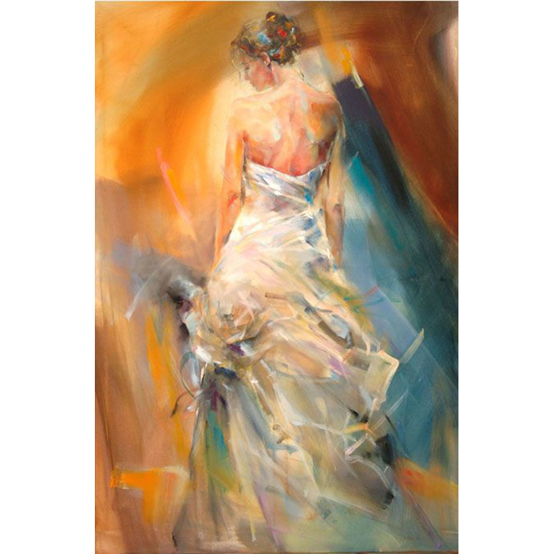 Acrylic Paint Hand Made Ballet Tango Dancer Bouquet Digital Oil Painting Canvas Paintings