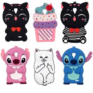 3D Cartoon Kawaii Bow Tie Cat Stitch ice cream M&M Fragrance Chocolate Soft silicone