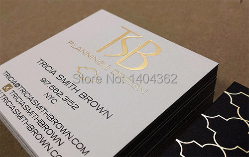 Gold Foil Business Cards Custom Stamping Card Printing