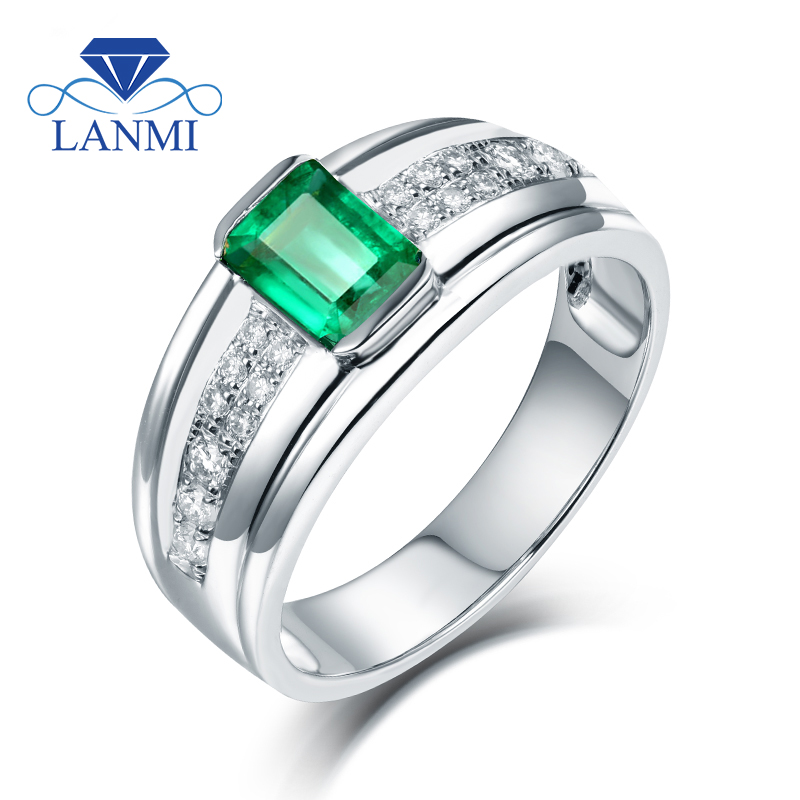 Emerald Rings For Men Fashion Real 14...