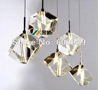 Lampada moderna di trasporto libero 5 luci luce del pendente di cristallo lampada da letto giardini. l per il commercio all'ingrosso