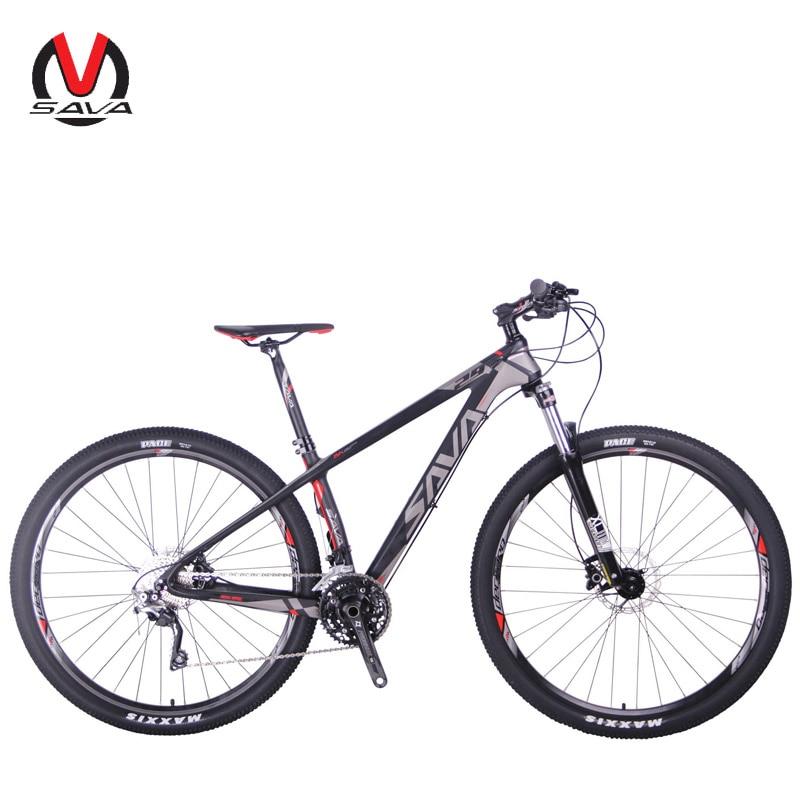SAVA VTT 29 vtt vélo 29 VTT Carbone fibre VTT 29 Vélo avec Shimano DEORE M6000 30 Vitesse Bicicleta