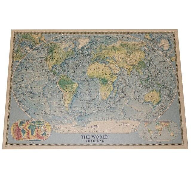 English World Map 2 Pcs Business Office Decorative Painting Wall