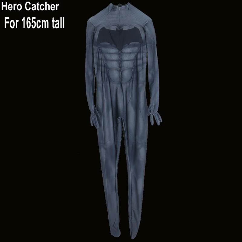 Hero Catcher High Quality For 165CM tall Batman Suit Muscle Batman Costume