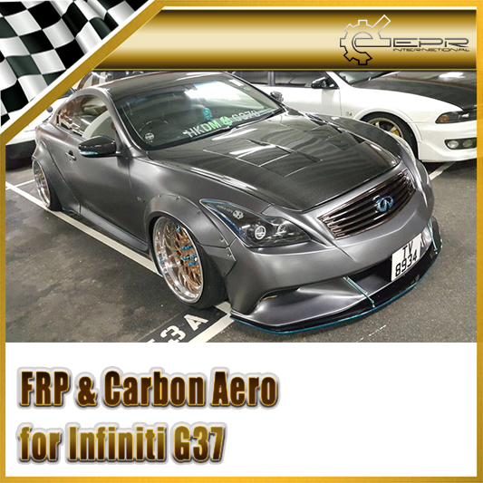 Car Accessories For Infiniti G37 LB Style FRP Fiber Glass Full Wide
