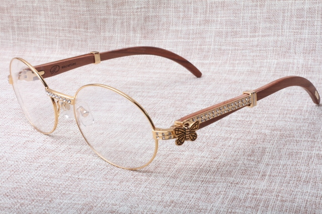 Hot selling retro ronde doos diamond bril 7550178 (c) Hout Eyewear Size: 55-22-135mm