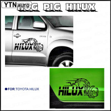 2 piece hilux HOG Pig 600mm side stripe graphic Vinyl sticker for TOYOTA HILUX decals все цены