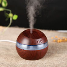 USB Ultrasonic LED Car /Home Humidifier Wood Wooden Aroma Diffuser Essential Oil Diffuser Aromatherapy mist maker
