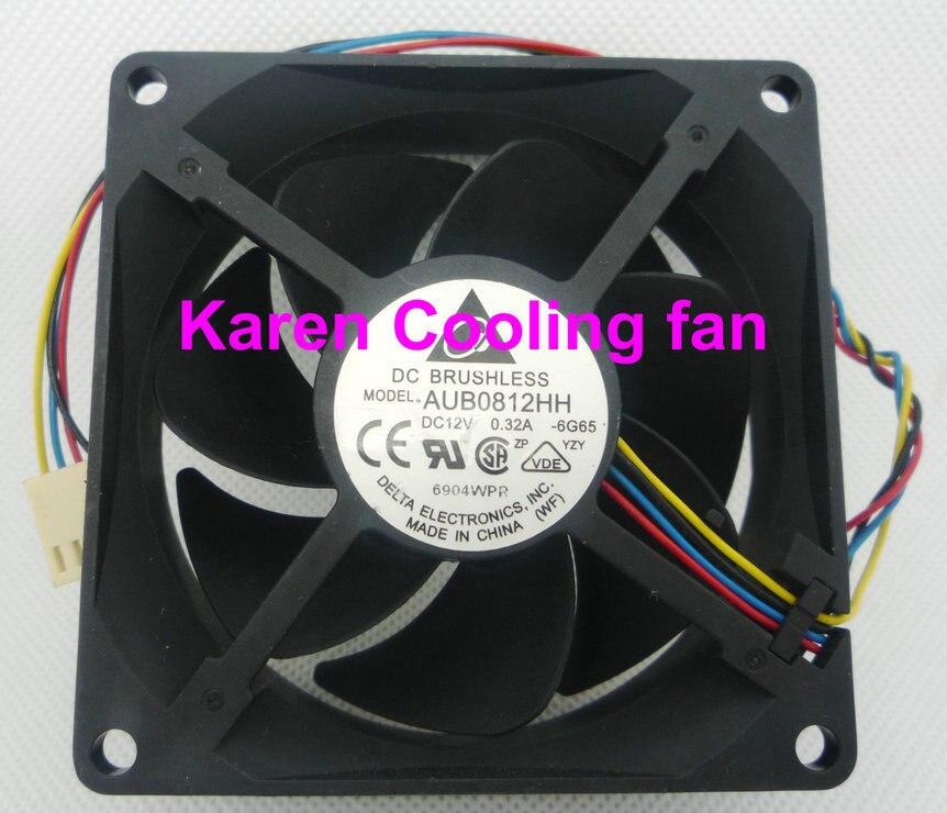 Дельта 8 см aub0812hh 8025 12 В 0.32a 4 Провода Вентилятор охлаждения