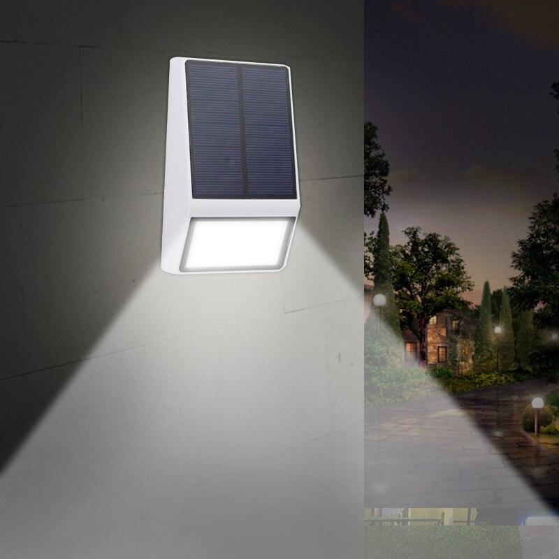 10 4 10 De Reduction Eclairage Exterieur Applique Ip65 Etanche Jardin Lampes Solaires Pour Decoration De Jardin 3 Mode Escalier Lampe Solaire