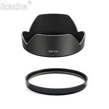 EW-73C ew 73c Lens Hood  + 67mm UV Filter For Canon EOS EF-S 10-18mm F4.5-5.6 Lens