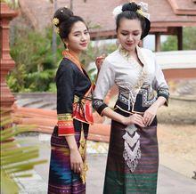 Традиционные женские костюмы Таиланда Лаоса в стиле ретро для