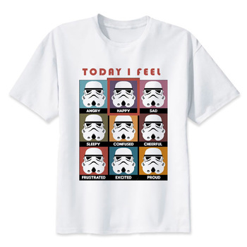 Camiseta de star wars Para hombre divertida darth vader camiseta starwars porg stormtrooper bb8 camiseta top ropa star-wars camiseta