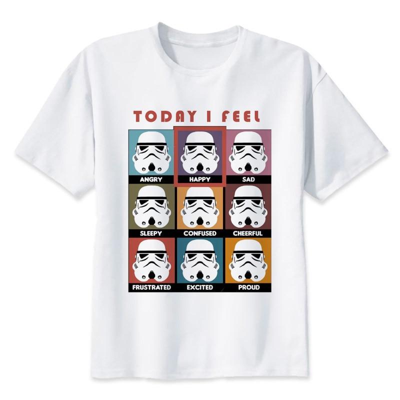 Star Wars T Shirt Men Funny Darth Vader T-Shirt Starwars Porg Stormtrooper Bb8 Top Tee Clothes Star-wars Tshirt