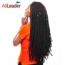 """Alileader 22 """"Длинные дреды Для мужчин DREAD расширения, синий бордовый свет Вес 20 г/шт. химическое вязанная косами волос 1-10 шт./лот"""