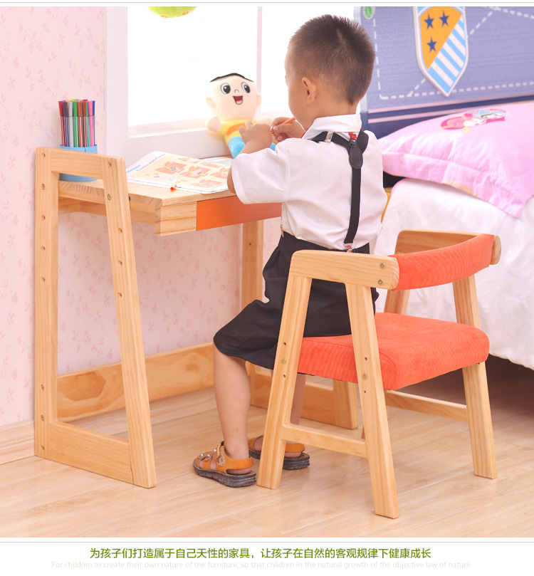 Children Furniture Sets kids Furniture pine solid wood desk+chair sets kids chair and study table sets minimalist two style hot