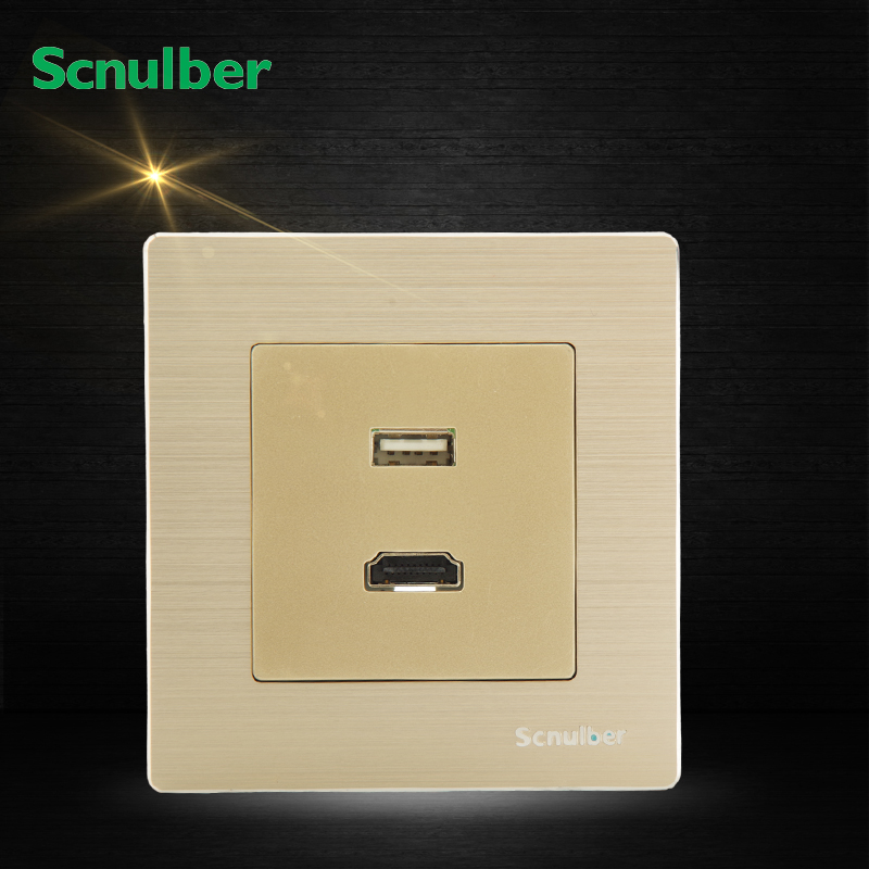 metal cover High Definition Multimedia Interface HDMI and wall power supply usb socket switch отсутствует metal supply