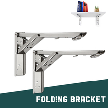 Folding Shelf Table Folding Bracket,Thickened Wall Mounted Bench Bearing Shelf Space Saving DIY Heavy Duty Foldable Support Rack mtgather 2pcs triangular folding bracket metal release catch support bench table folding shelf bracket home best price