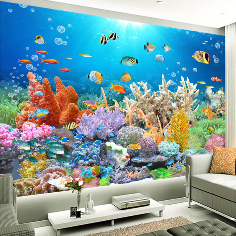Coral reef wall mural1 collection 12 wallpapers for Coral reef mural