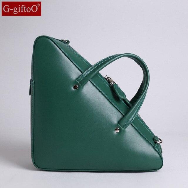 2017 Newest Fashion Women Shoulder Bag European Style Triangle Handbags Female Genuine Leather Messenger