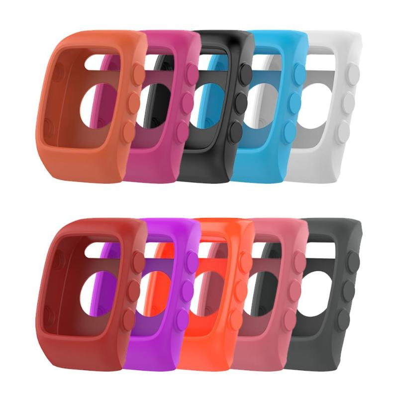 ALLOYSEED Shockproof Anti-Scratch Soft Silicone Protective Case Housing Cover For Polar M400 M430 Sport Smart Watch Bracelet купить недорого в Москве