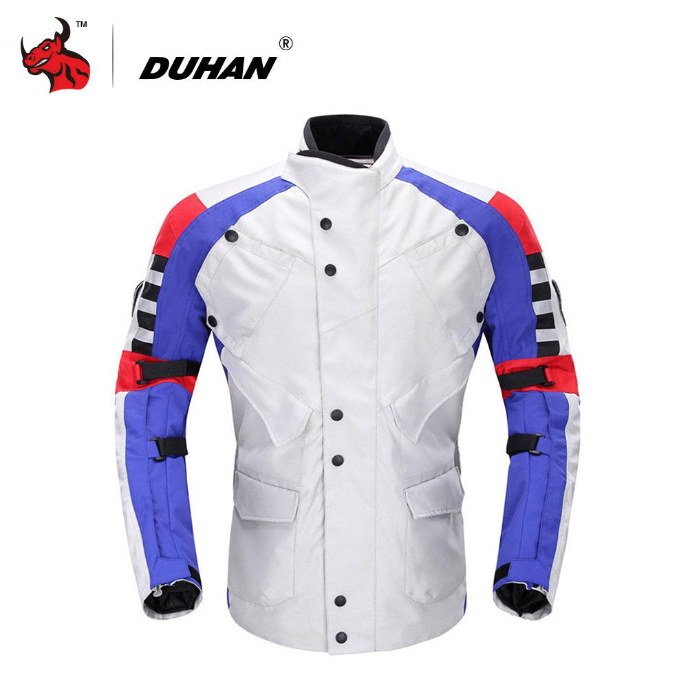 DUHAN Waterproof Moto Jacket Men Motocross Clothing Motorcycle Racing Suit Chaqueta Moto Verano Motorcycle Jacket benkia men women motorcycle rain jacket coat two piece raincoat suit riding rain gear chaqueta moto jacket