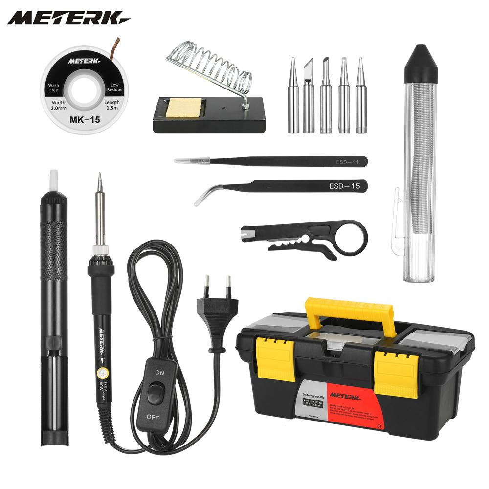 14-In-1 60W Soldering Iron Kit DIY Electric Welding Tools Adjustable Temperature