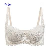 New arrival lady pure silk deep V shape sexy lace bra,100% silk push up underwire thin cup U back underwear women,cup A/B/C
