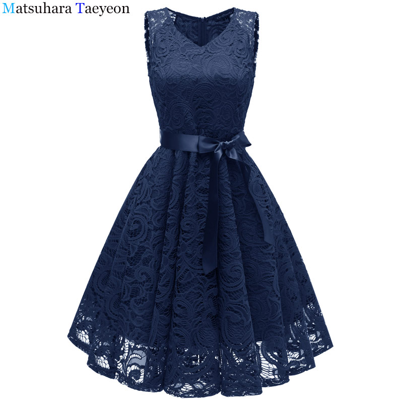 9db733a0d0 Lace Dresses Ever Pretty Elegant V neck High Waist Tea Length Fashionable  Affordable Party Dresses for Women-in Dresses from Women s Clothing on ...