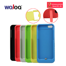 2200 mAh WOJOQ External Backup Battery Charger Case Power Bank Pack With Stand Powerbank Charging Case for iPhone 5 5s 5C SE